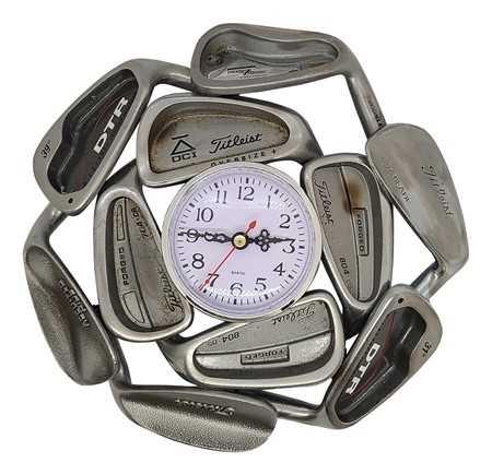 Titleist Clubs Golf Club Clock - Made from Vintage Golf Clubs, Recycled Golf Irons