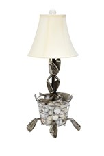 Delightful Range Ball Basket Golf Table Lamp